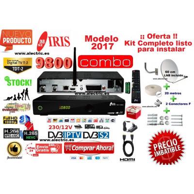 kIT IRIS 9800 combo FHD + antena