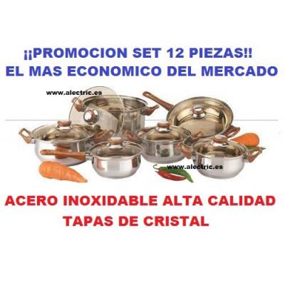 Bateria de cocina 12 piezas