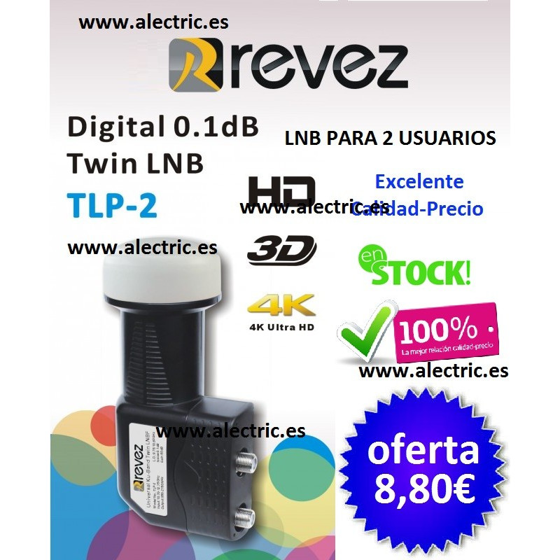 LNB TWIN REVEZ TPL-2