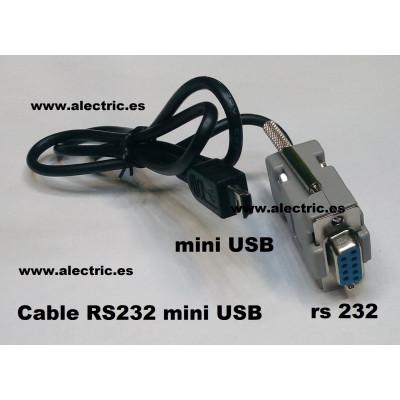 cable rs232 mini usb