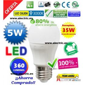 Esferica LED 5W cálida