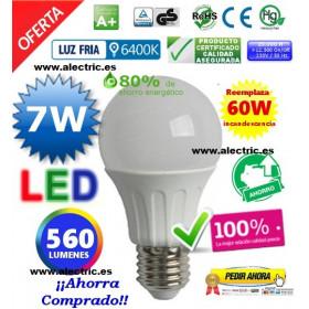 Bombilla Led A60 E27 7W Luz blanca