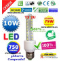 Bombilla led T3 E27 10W luz cálida