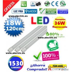 Tubo Led T8 18W 120cm luz blanca