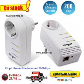 Kit PLC Powerline Internet engel