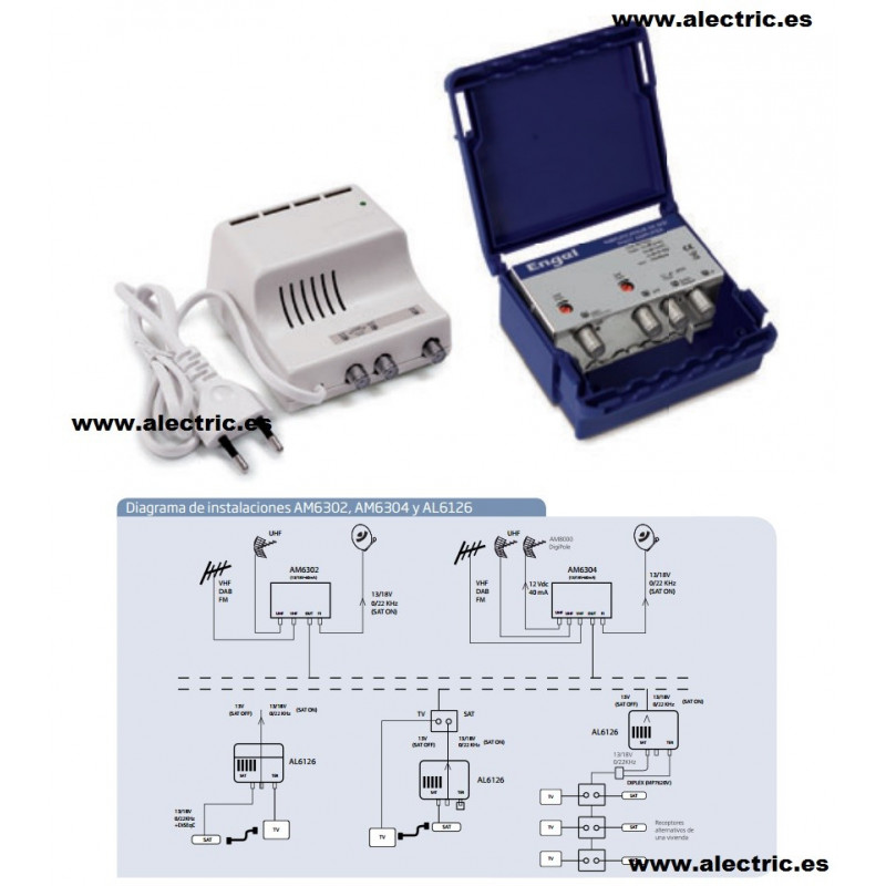 Kit amplificador de mástil con mezcla FI engel