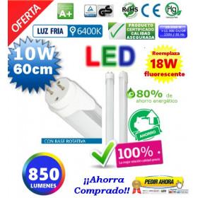 Tubo Led T8 10W 60cm luz blanca
