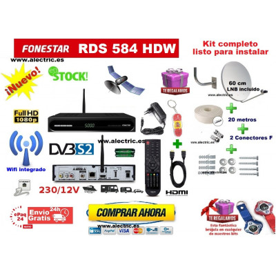 Kit fonestar rds 584 whd + antena