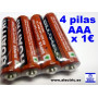 4 pilas AAA 1.5V
